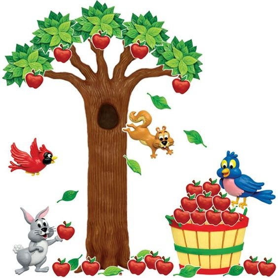 Apple tree bulletin board set trees bulletin boards and for Apple tree classroom decoration