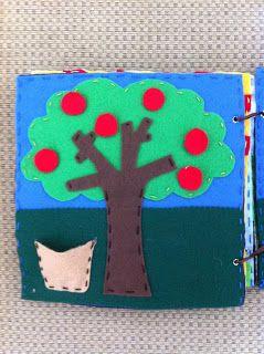 quiet book apple tree