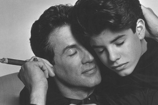 Sly and Sage Stallone  RIP Sage    Photo by Weber Froelich