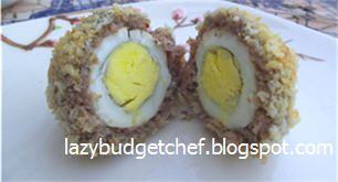 Baked Scotch Eggs Recipe on Lazy Budget Chef