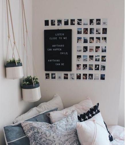 19 Ideas Bedroom Wall Decor Tumblr Black And White Minimalist Room Dorm Room Decor Minimalist Dorm