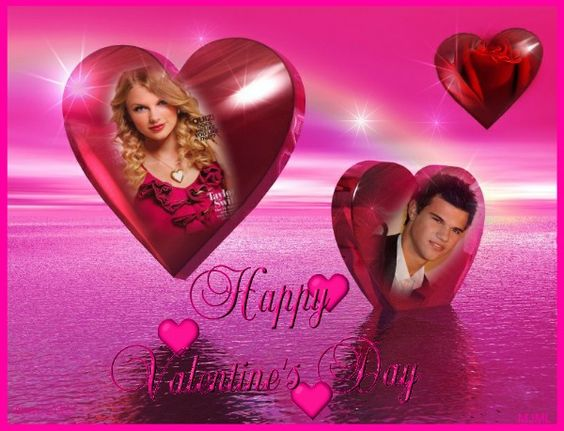 sweet pink valentine frame you can put your own photo in this image if you click on it it will take you to imikimicom a free photo editor