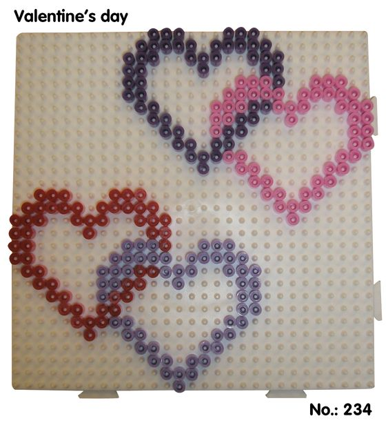Valentines Day Hearts hama perler pattern - Club Hama: