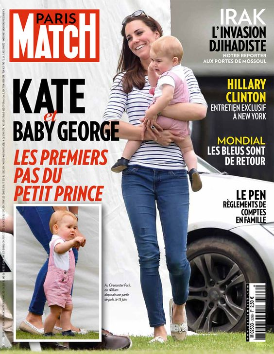 cette semaine dans paris match kate et baby george les premiers pas du petit prince books. Black Bedroom Furniture Sets. Home Design Ideas