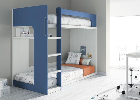 Kids touch 64 litera y escritorio juvenil literas y cama for Habitacion con litera