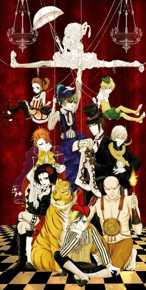 Book of circus #blackbutler #kuroshitsuji