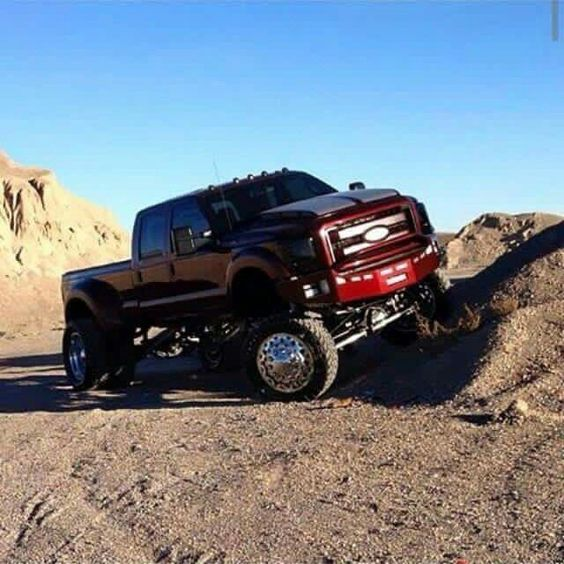 black dually w red rims mode pickups ans subs pinterest ford ford trucks and cars