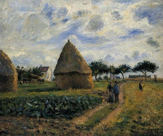 Peasants and Hay Stacks, 1878 - Camille Pissarro - WikiArt.org