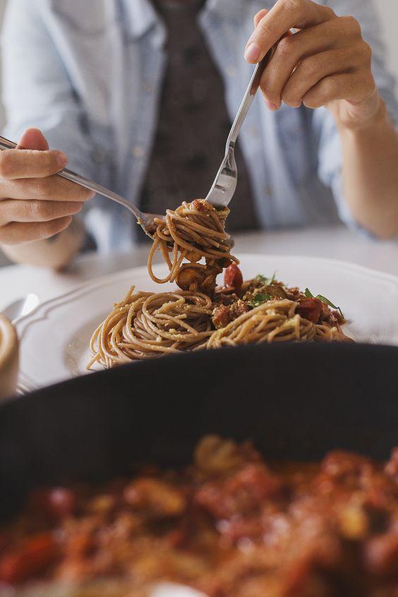 Mushroom walnut pasta sauce recipe