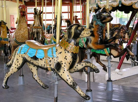 Greenfield Village Carousel  Dog, Cat and Horse Row      © Gary Nance