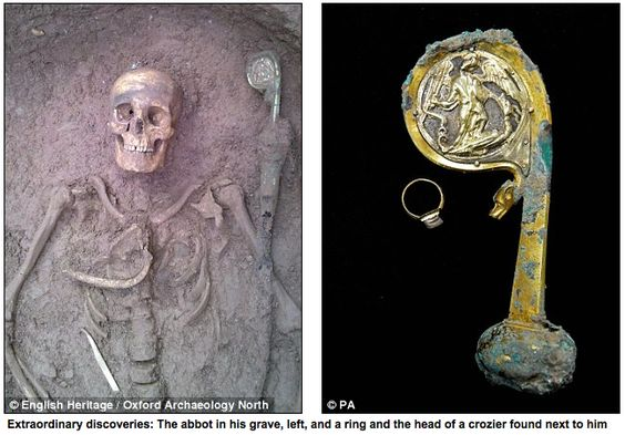 Extraordinary discovery of 12th century abbot's grave   For something like seven centuries he had lain undisturbed.   He – or at least his r...