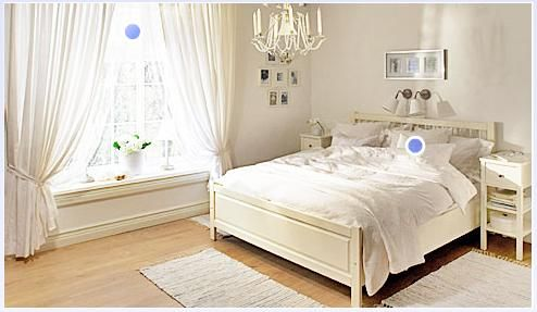 Love the clean feeling of this bedroom. Would throw in some color with the sheets and accessories