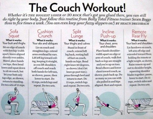 The Couch Workout. LOL.