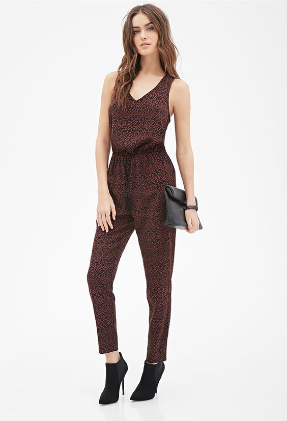 Abstract Printed Jumpsuit - Jumpsuits & Playsuits - 2000081500 - Forever 21 UK