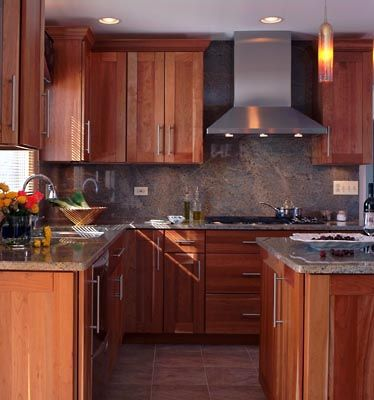 Square kitchen small kitchens and crown moldings on pinterest for Square kitchen ideas