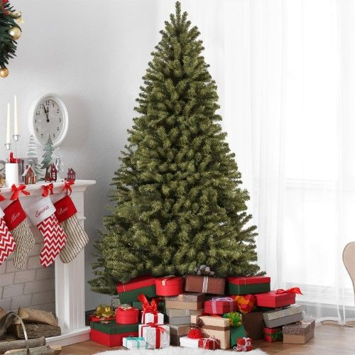 Best Choice Products 7 5 Premium Spruce Hinged Artificial Christmas Tree W Stand Best Artificial Christmas Trees Cool Christmas Trees Indoor Christmas Decorations