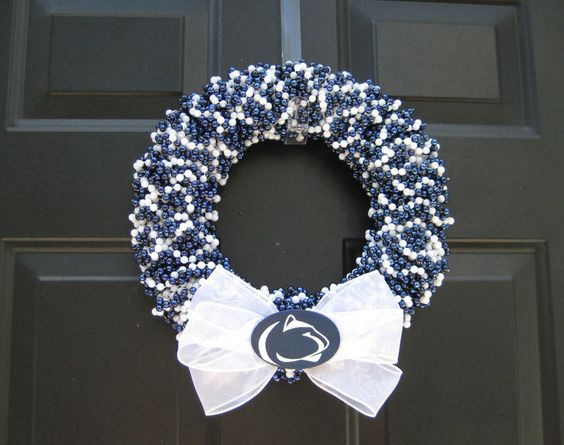 Penn State beaded door wreath. We Are Penn State !