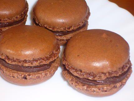 recette Macarons au chocolat (recette simple)