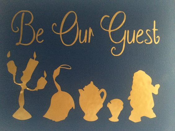 Be Our Guest Canvas Beauty And The Beast Disney Quote