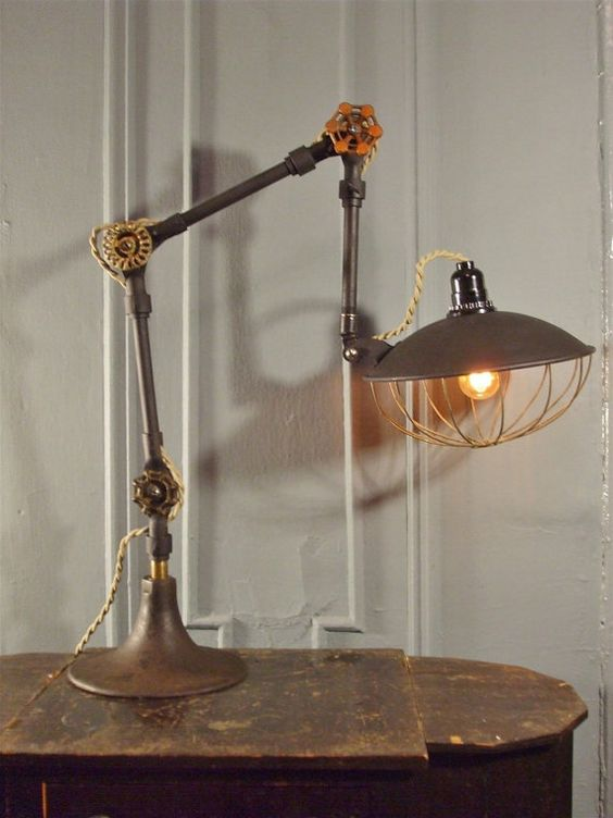 Machine Age Task Lighting And Industrial Desk On Pinterest