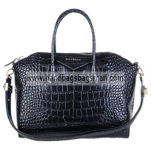 Givenchy Black Antigona Duffel Croc Embossed Leather Tote Bag.  RRP: $1,012.00.  Your Price: $309.99.  (You save $702.01).  Brand: Givenchy.  Givenchy Black Antigona Duffel Croc Embossed Leather Tote Bag detailed physical characteristics and size, so that you can have a more detailed information about it.  http://www.handbagsbagsmall.com/products/Givenchy-Black-Antigona-Duffel-Croc-Embossed-Leather-Tote-Bag.html
