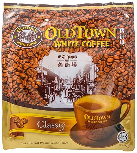 Old Town 3 In 1 Classic White Coffee 21 2 Ounce Singapore Coffee White Coffee Coffee Mix White Cafe
