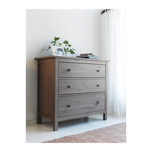 Hemnes 3 Drawer Chest Ikea Made Of Solid Wood Which Is A