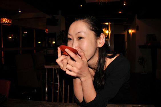 Lady drinking Miso in Nikko by AndySerrano.deviantart.com on @DeviantArt