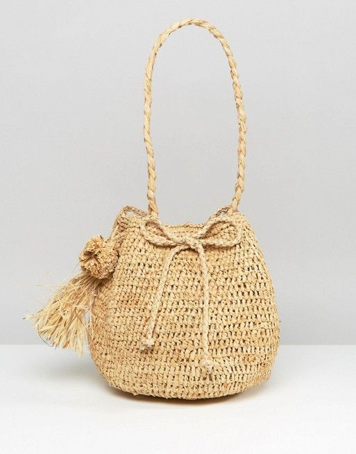 Hat Attack Straw Bucket Bag: