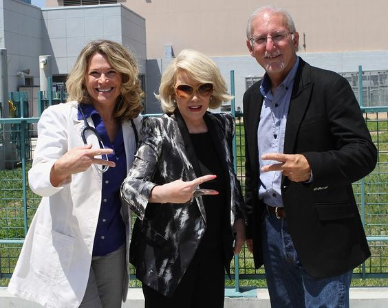 Joan Rivers came by to visit our mobile clinic!