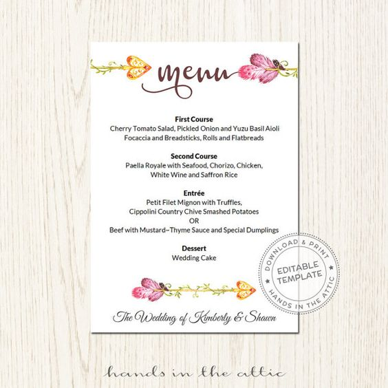 Modern Damask Wedding Collection Wedding Celebration Program By