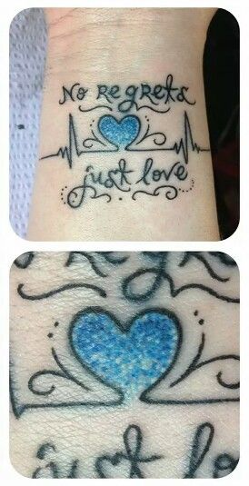 I don't like the tattoo just the coloring technique for the heart