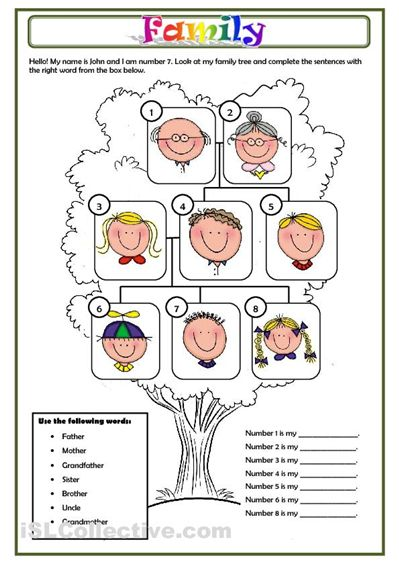 Family Worksheet Free Esl Printable Worksheets Made By Teachers Family Worksheet Family Tree Worksheet Family Tree For Kids Family worksheet for kindergarten pdf