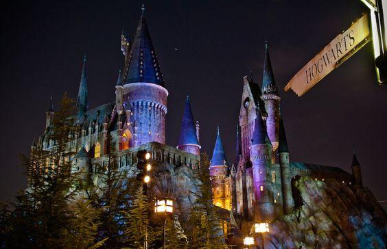 Le Poudlard du parc Universal Studio d'Orlando, Floride (© Scott Smith…
