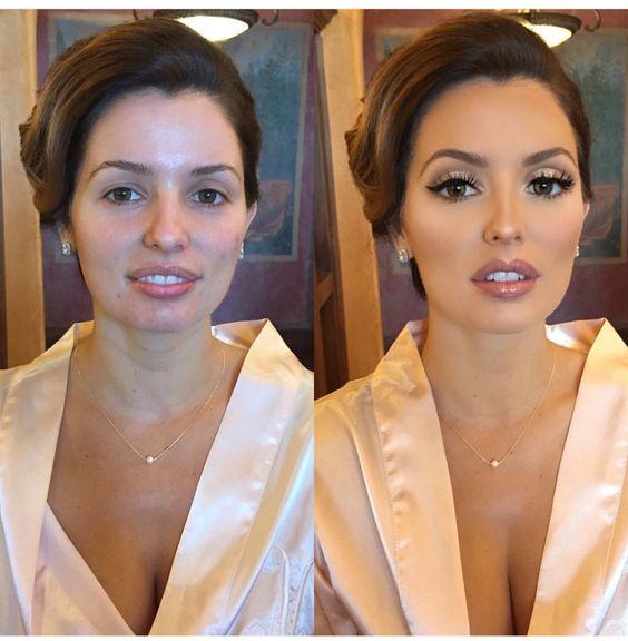 O poder da maquiagem  bem feita: