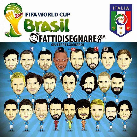 ITALIA COMICS (MONDIALI BRASILE 2014) #Brazil #Fifa #World #Cup #2014 #ITALIA #Buffon #Perin #Sirigu #Abate#Barzagli #Bonucci #Chiellini #Darmian #DeSciglio #Paletta #Aquilani#Candreva #DeRossi #Marchisio #ThiagoMotta #Parolo #Pirlo #Verratti#Balotelli #Cassano #Cerci #Immobile #Insigne #Italy #Soccer #Football #GiuseppeLombardi #fattidisegnare #Caserta #Campania #Digital #Graphic #Art #Adobe #illustrator #Photoshop #caricatura #Squadra
