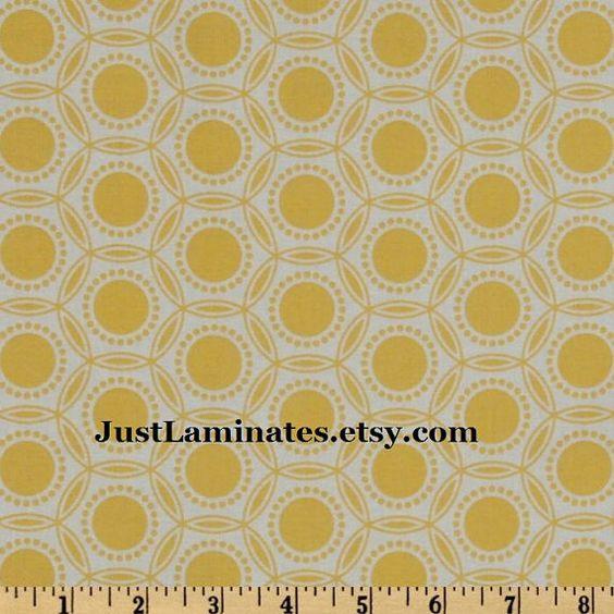 Laminated cotton fabric  Joel Dewberry Opal Dandelion by Laminates, $15.50