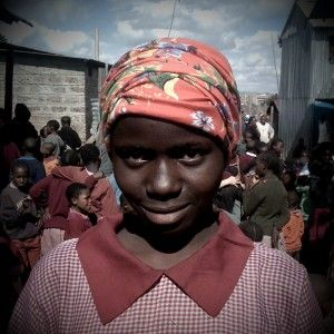 my precious adah in kibera - africa's largest slum in nairobi, kenya.