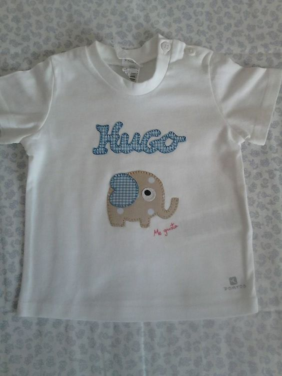 "Camiseta para niño decorada en patchwork. Facebook camisetas decoradas ""ME GUSTA"""