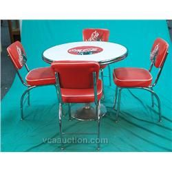 Coca cola 50s diner coca cola 50 39 s diner style table 4 chairs coke pinterest tables - Coca cola table and chairs set ...