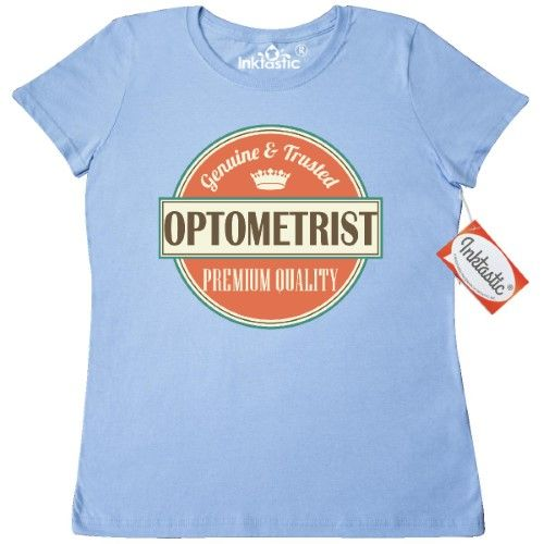 Inktastic Optometrist Funny Gift Idea Women's T-Shirt Retired Occupations Job Vintage Logo Clothing Classic Career Apparel Tees Adult Hws, Size: XL, Blue