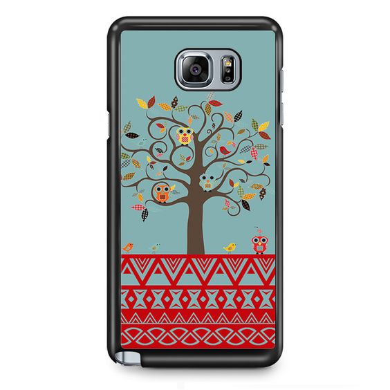 Owl Tree TATUM-8364 Samsung Phonecase Cover Samsung Galaxy Note 2 Note 3 Note 4 Note 5 Note Edge