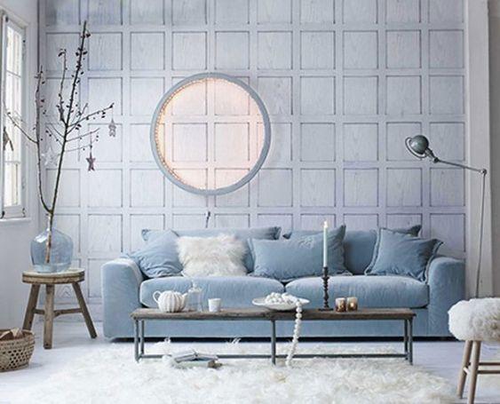 Le bleu Serenity et le blanc: