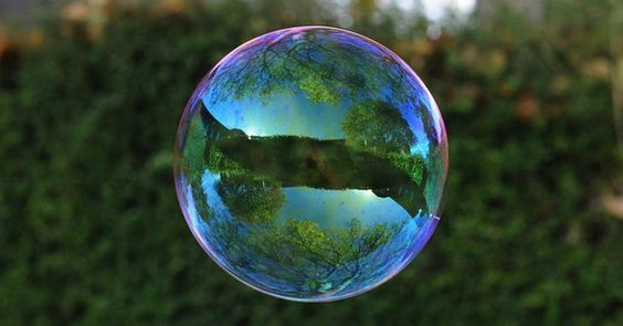 World Reflected In Bubbles