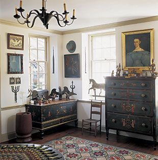 Lifestyle: Eagles Tulips, Snakes Weathervanes: A Pennsylvania Folk Art Collection note from cee.. very nice prug on table..