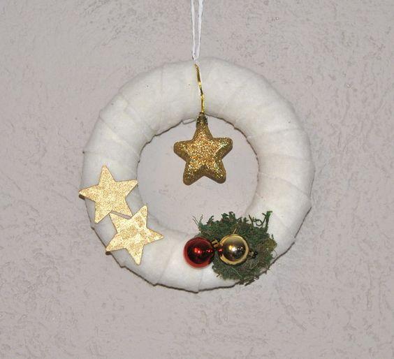 Deko-Objekte - Türkranz Weihnachten - ein Designerstück von -Zitronenfalter- bei DaWanda