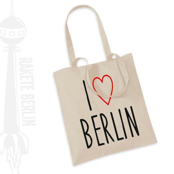 Jutebeutel 'I LOVE BERLIN' von RaketeBerlin auf DaWanda.com
