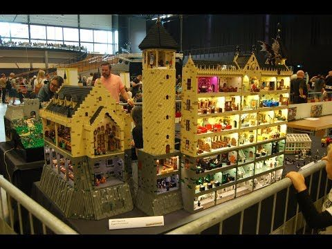 Huge Harry Potter Hogwarts Castle With Interiors From Lego Youtube Wolle Kaufen Welt