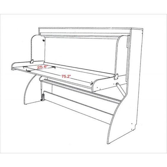 Murphy Bed Desk Combo Plans - Google Search | Beds | Pinterest ...