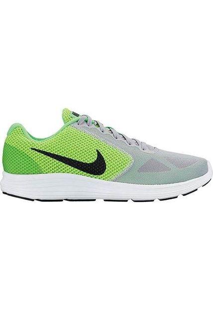 zapatillas nike gris y verde